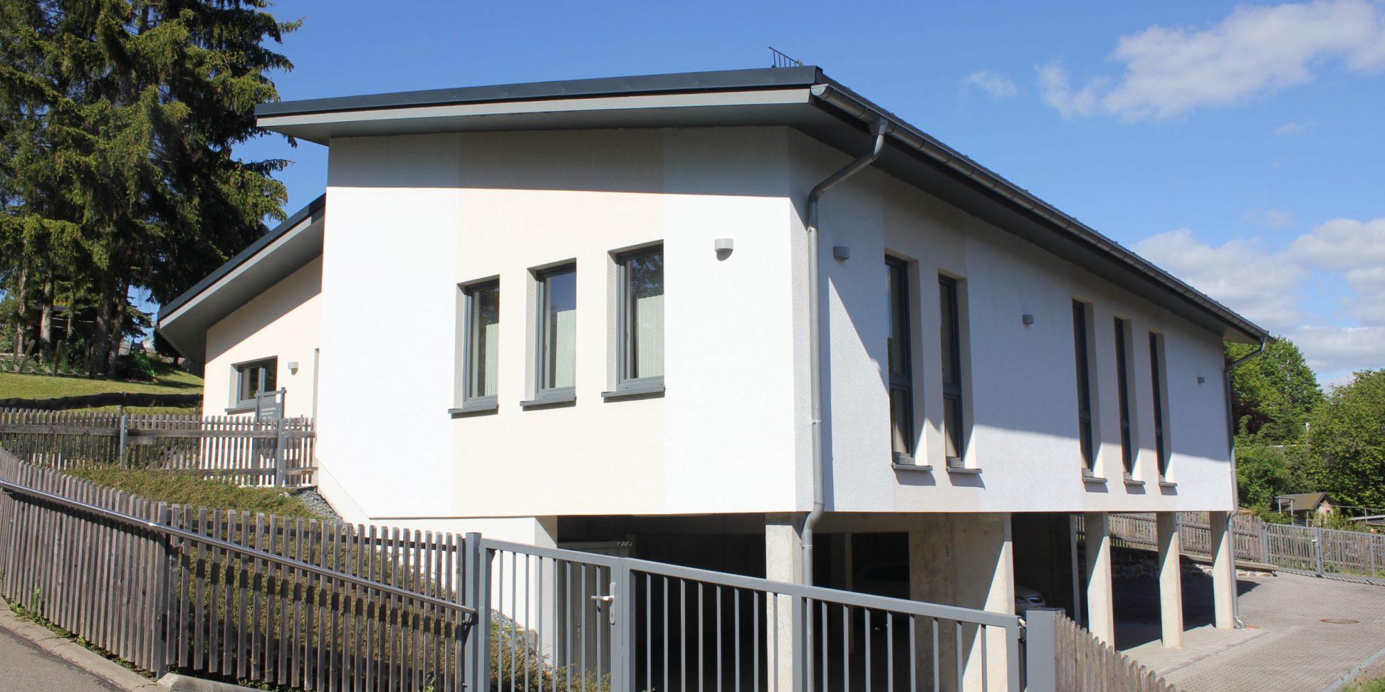 Haus von unten